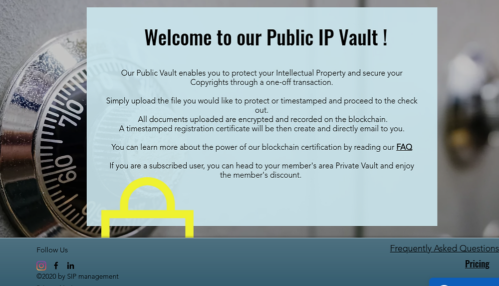 SIP Management public IP Vault