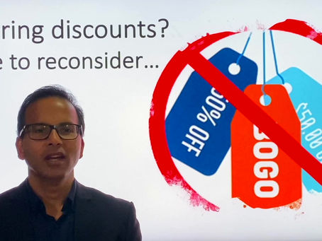 If you are using discounts as your sales strategy, here is why you may want to reconsider 🤔 (1 min).