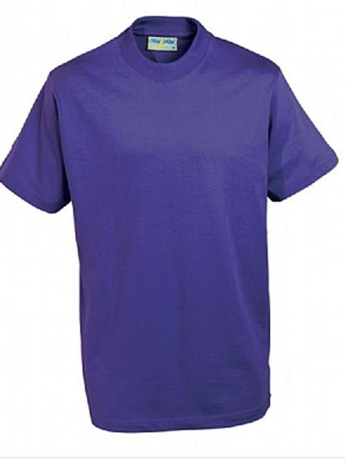 Purple PE T-shirt with Hillside Logo