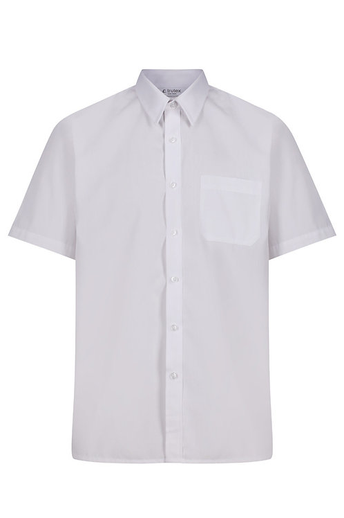 Short Sleeved White Shirts (Twin Pack)