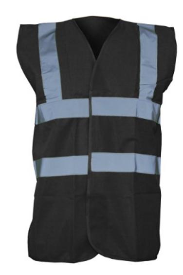 Black Hi-Vis Vest  (Yoko YK001)