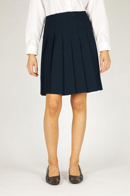 Navy Knifepleat Senior Skirt