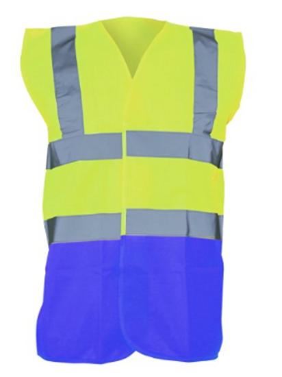 Yellow / Blue  Hi-Vis Vest  (Yoko YK001)