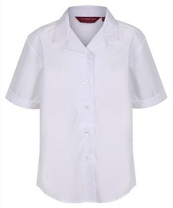 (Leadership Team) White Rever Short Sleeve Blouses (twin pack)