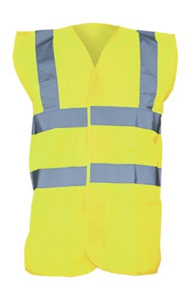 Yellow Hi-Vis Vest  (Yoko YK001)
