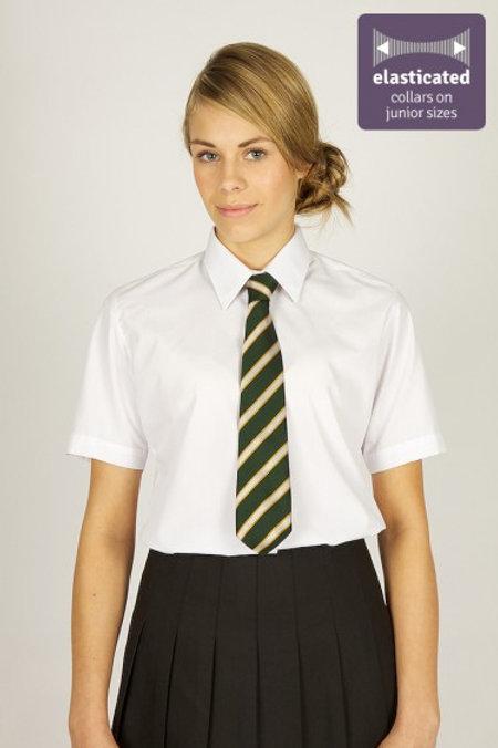 White Short  Sleeved Blouses (Twin Pack)
