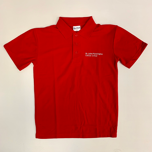 Red PE Polo with SJP Logo (GCSE)