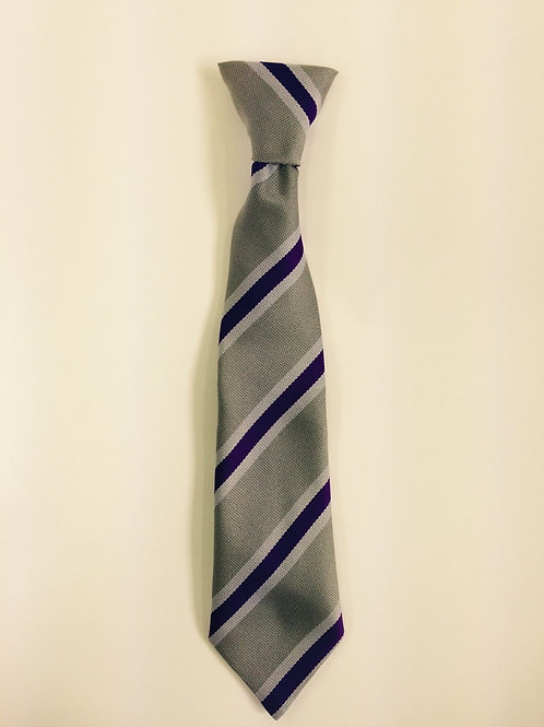 Poulton Lancelyn Purple and Silver Striped Tie