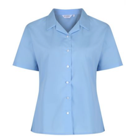 Blue Trutex Rever Blouse (Twin Pack)
