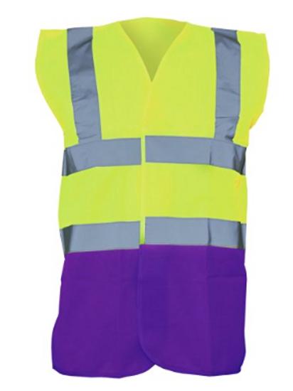 Yellow / Purple  Hi-Vis Vest  (Yoko YK001)