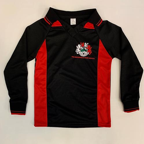 Black and Red Birkenhead Football Shirt (Boys)