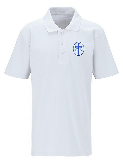 White Polo Shirt with St Saviours Logo