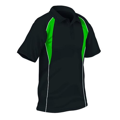 Black/Emerald/White PE Polo with Upton Logo