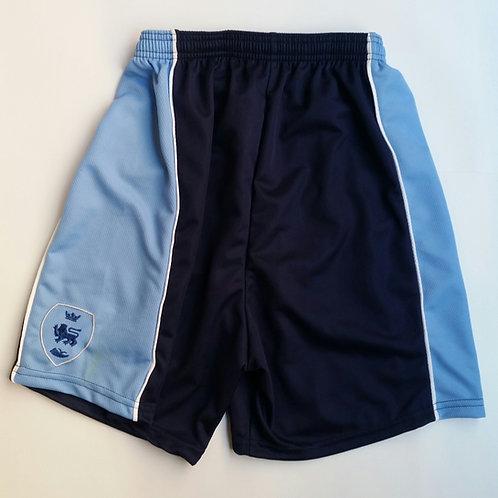 Navy and Sky PE Shorts with Pensby Logo