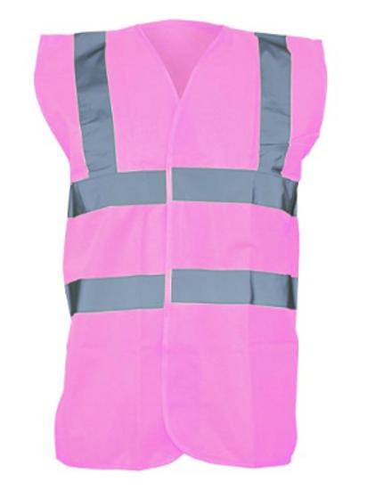Pink Hi-Vis Vest  (Yoko YK001)