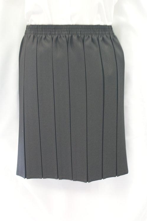 Black Elasticated Box Pleat Skirt