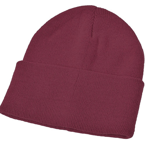 Maroon Woolly Hat (Plain or Embroidered)