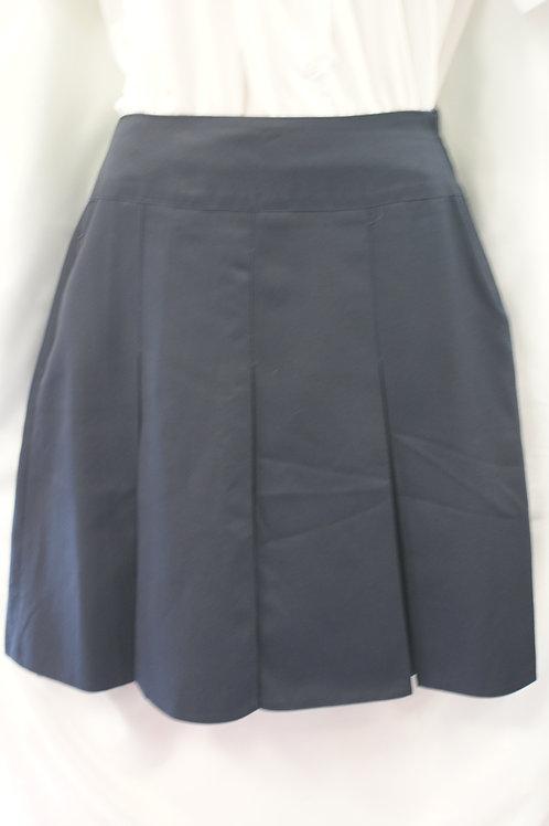 Navy Stitchdown Skirt