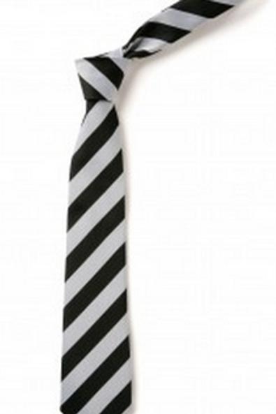 Black and White Striped Tie (No. 9)