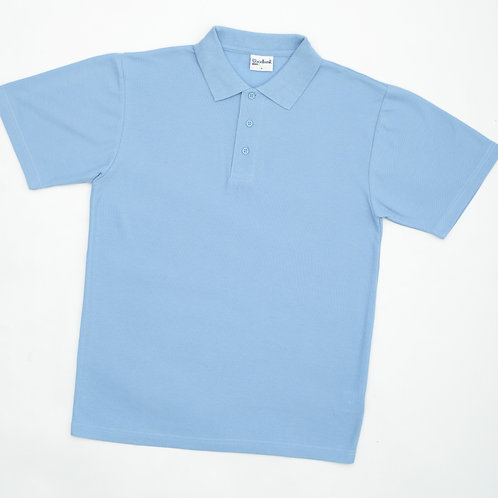 Sky Polo Shirt with Leasowe Logo