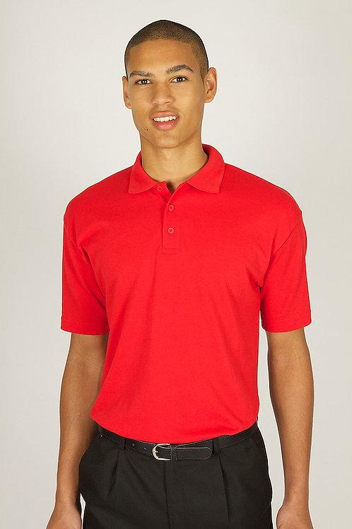 Plain Bright Red Trutex Polo