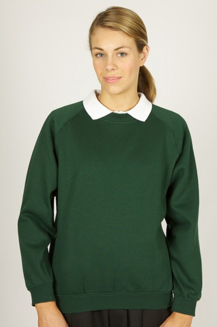 Green Sweatshirt with Great Meols Logo