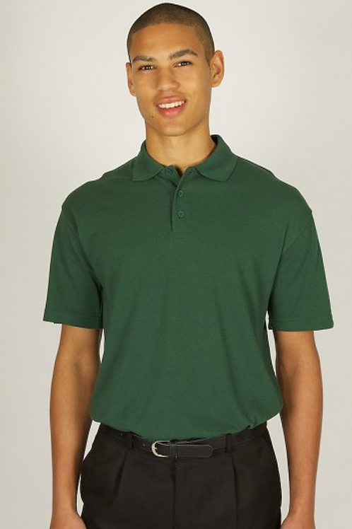 Bottle Green Polo Shirt with Heygarth Logo