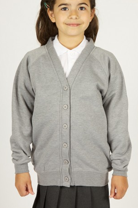 Grey Sweatcardy with Prenton Logo