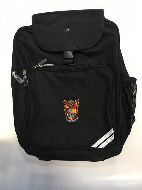 Black Junior Backpack with School Logo
