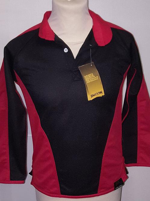 Red/Black Rugby Top