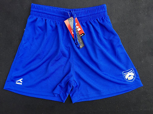 Royal PE Shorts with  Wirral Boys Logo