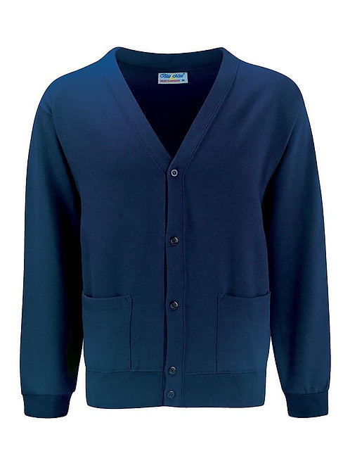 Navy  'Blue Max' Sweatshirt Cardigan