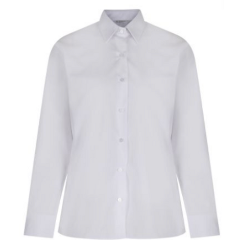 White Long Sleeved Trutex Blouse (Twin Pack)