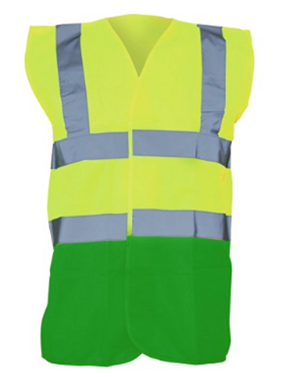 Yellow / Green  Hi-Vis Vest  (Yoko YK001)
