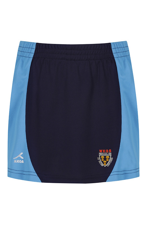Navy and Sky PE Skorts with West Kirby Logo