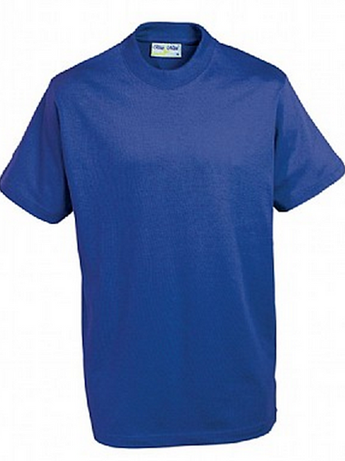 Royal PE T-shirt with Brookhurst Logo