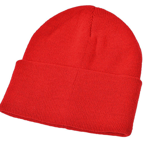 Red Woolly Hat (Plain or Embroided)