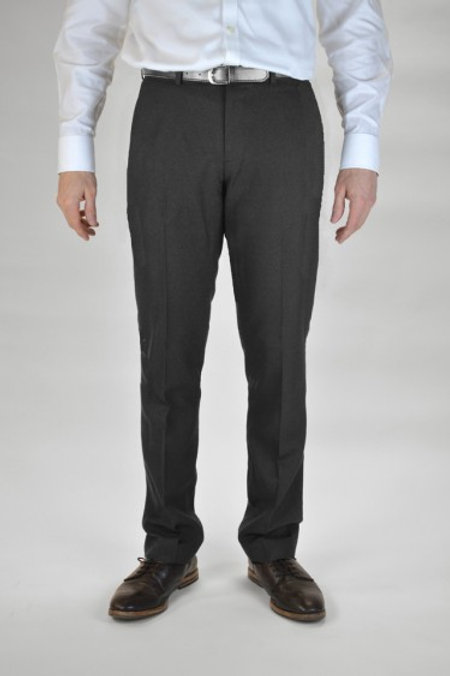 Charcoal Slim Leg Trousers with school crest