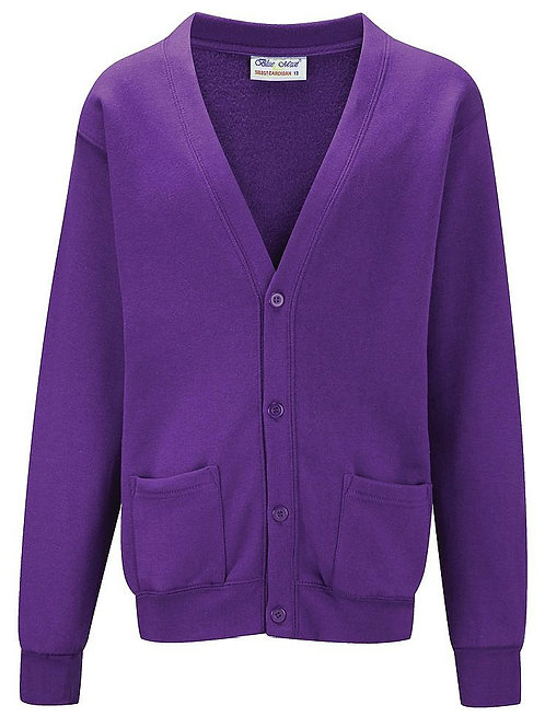 Purple  'Blue Max' Sweatshirt Cardigan