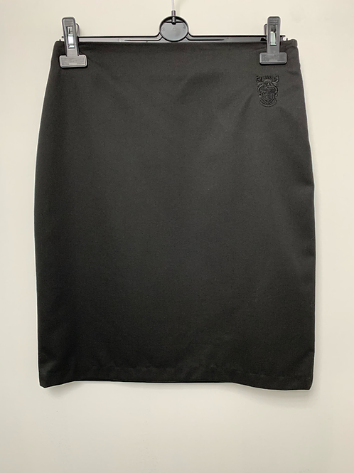 Girls Sixth Form Aspire Straight Skirt with logo embroiderd