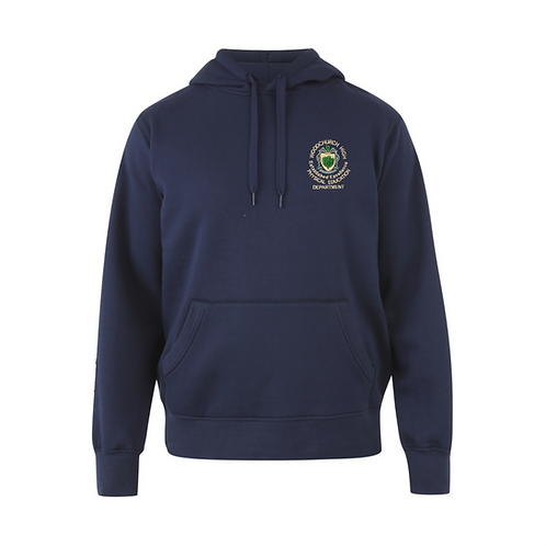Navy Hoody with Woodchurch Logo (Unisex)
