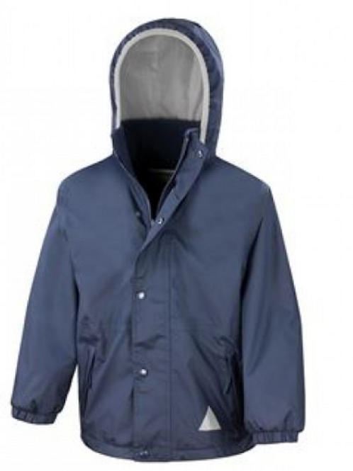 Navy Result Coat with Green Meadow Logo