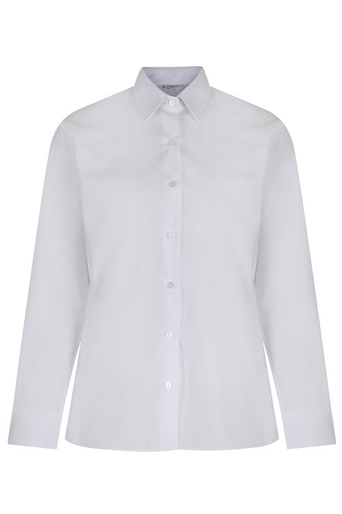 White Long Sleeved Blouses (Twin Pack)