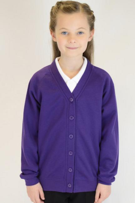 Purple Plain Trutex Sweatcardy