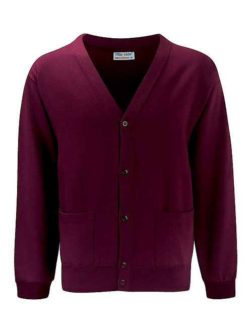 Burgandy  'Blue Max'  Sweatshirt Cardigan
