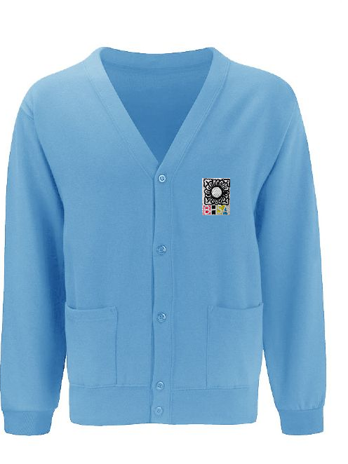 BHSA Sky Blue Sweat Cardigan