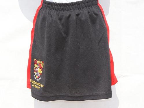 Black Skort with Red Stripe