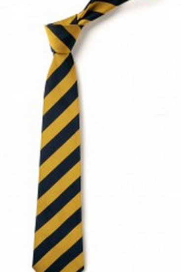 Gold and Navy Striped Tie (No. 11)