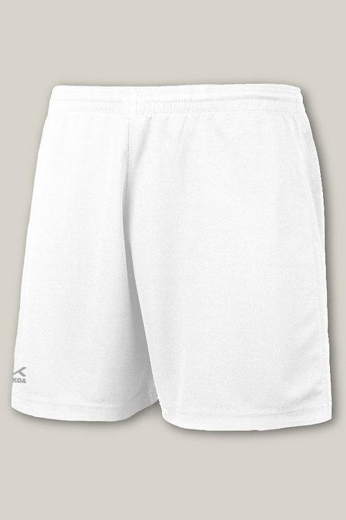 White Trutex PE Shorts Plain
