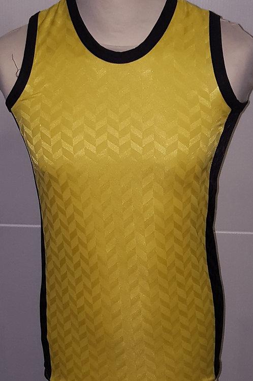 "Yellow/Black ""Zig-Zag"" Athletics Vest"